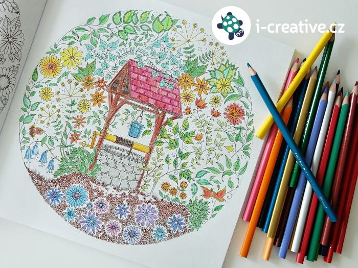 Tajná zahrada - pastelkou proti stresu