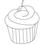 cupcake omalovánka