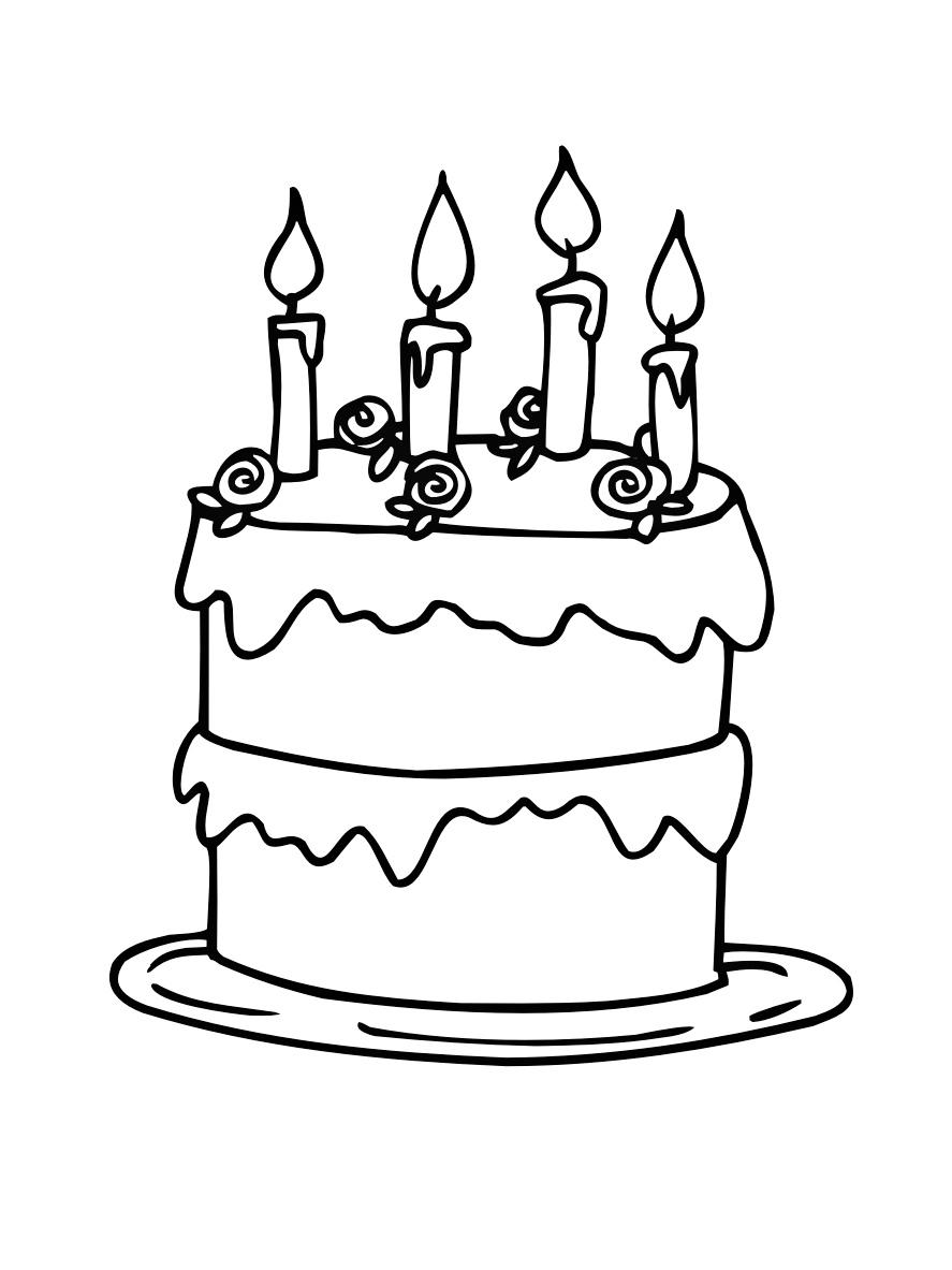 Narozeninov dort omalov nky i inspirace - Dessin de gateau facile ...