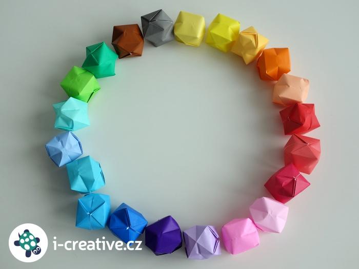 origami míčky