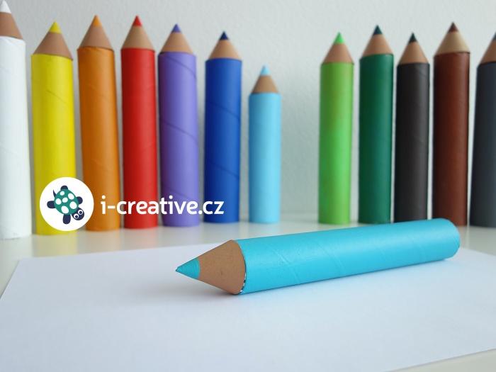 papírové pastelky - výzdoba do třídy