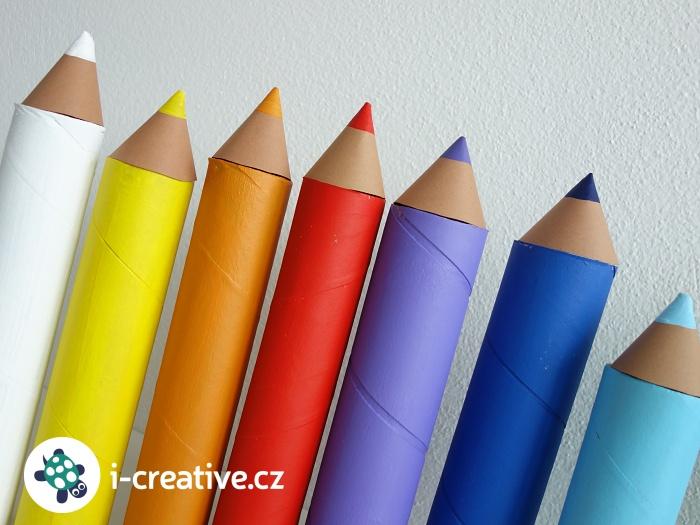 pastelky - dekorace do třídy