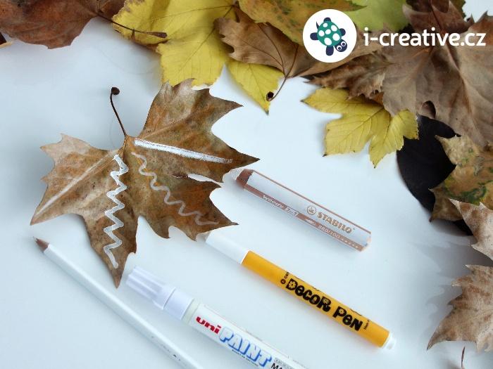 čím kreslit na podzimní listy