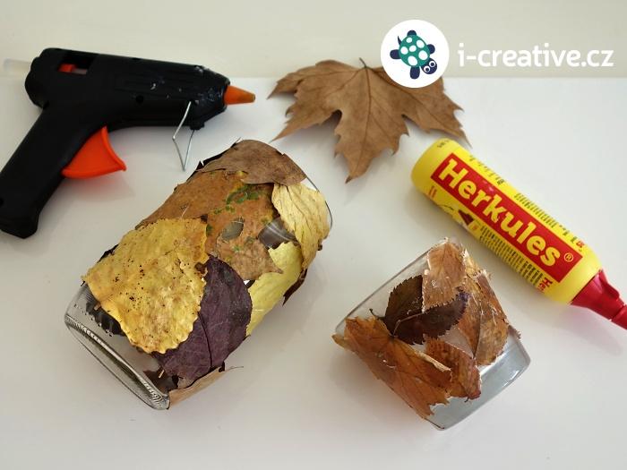 jak vyrobit podzimní lucerny z listů