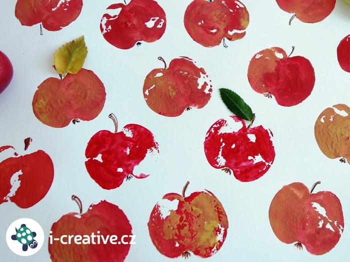 otisky jablíček