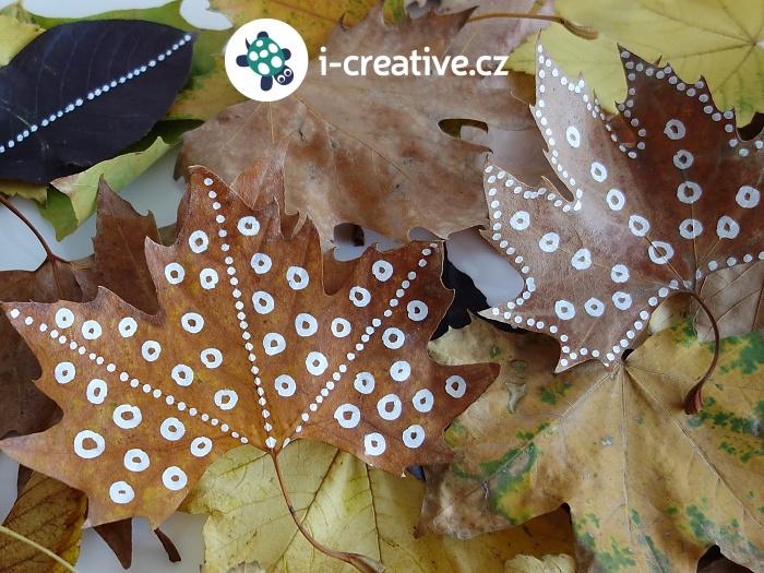 podzimní kreslení na listy