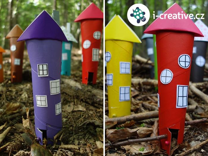 tvoření s dětmi - domečky