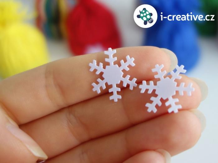 dekorační sněhové vločky pro tvoření