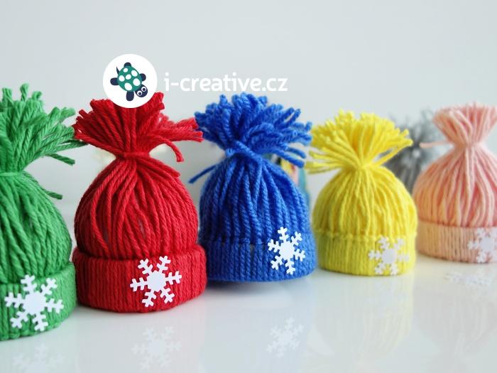 dekorační zimní čepičky