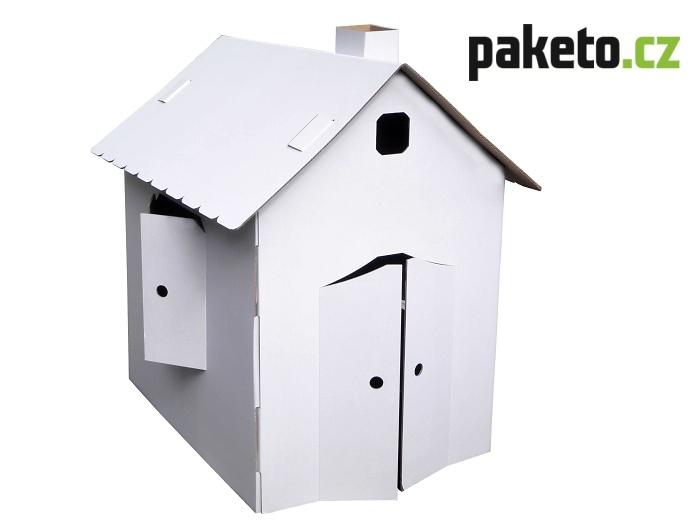 domeček z kartonu Paketo