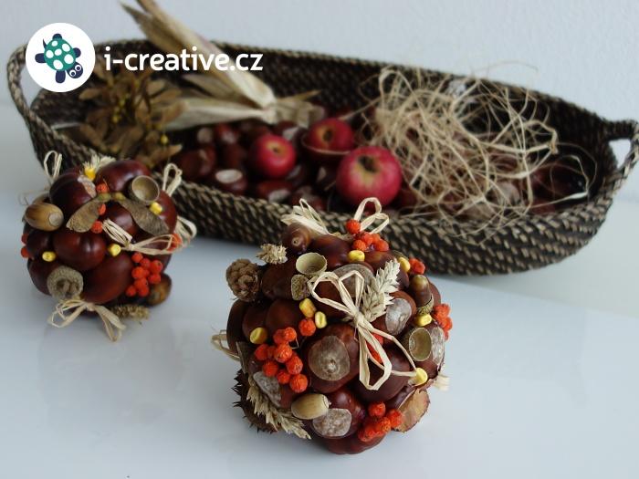 jak vyrobit podzimní dekorační kouli