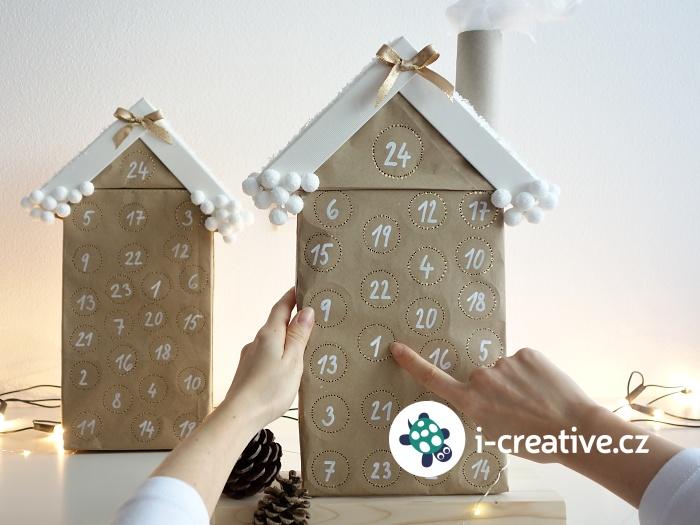 adventní kalendář z krabice a ruliček