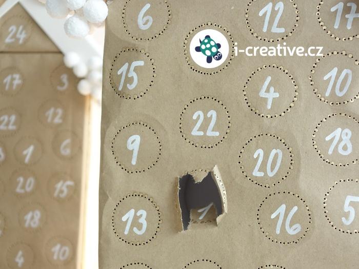 adventní kalendář z roliček od toaletního papíru