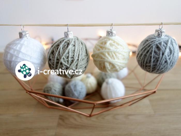 jak vyrobit klubíčka - ozdoby na vánoční stromeček