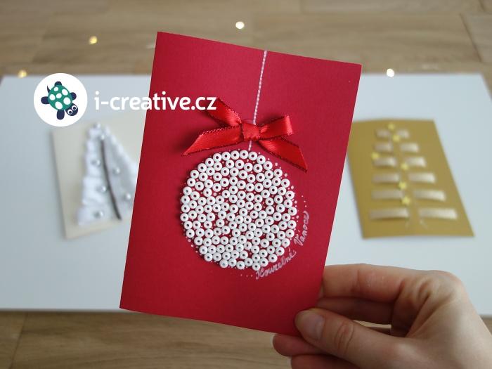 návod jak vyrobit vánoční přáníčko
