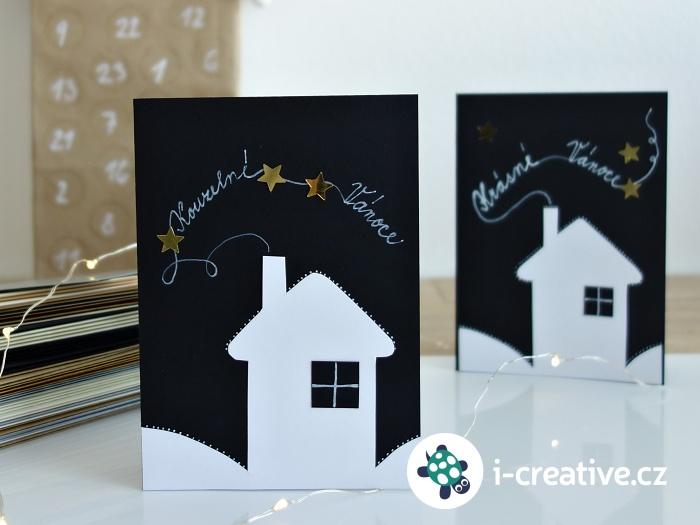 vánoční přání z papíru