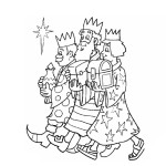 Tři králové omalovánka k tisku