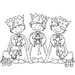 Tři králové omalovánka k vytisknutí