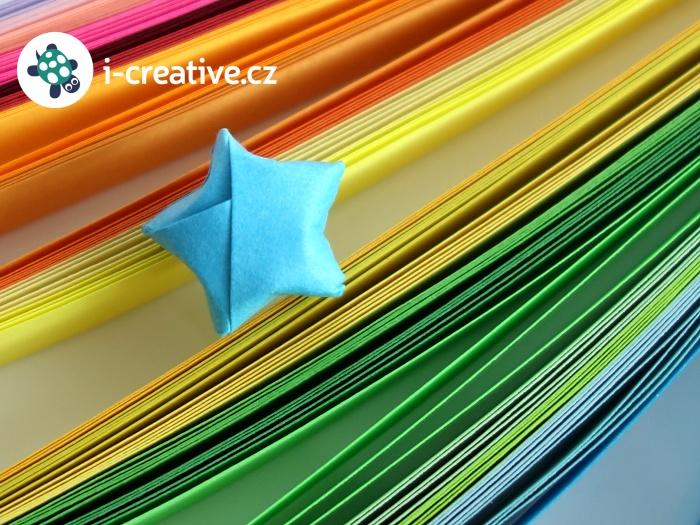 mini origami hvězdička