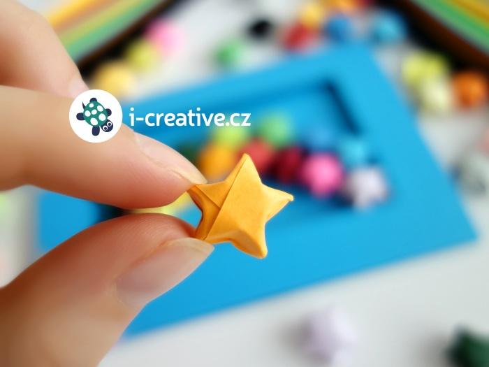návod na mini origami hvězdičky