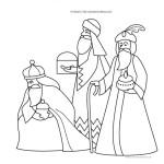 omalovánka Tři králové omalovánky