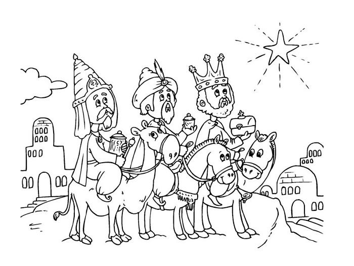 omalovánky a obrázky Tři králové