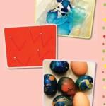 mramorovaná velikonoční vejce Šikulové