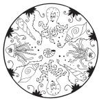 mandala pro děti - mořský svět
