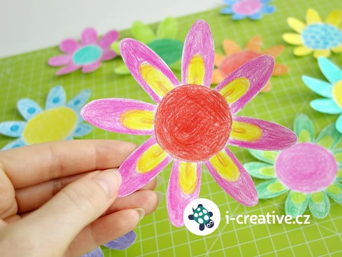 návod na kouzelné papírové květy