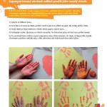 otisky rukou - ukázka z knížky Malujeme jinak