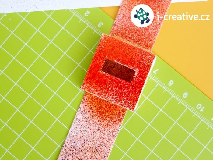 papírové hodinky na krreativní tvoření