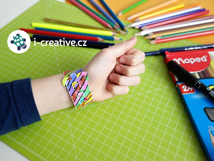 papírové hodinky na tvoření