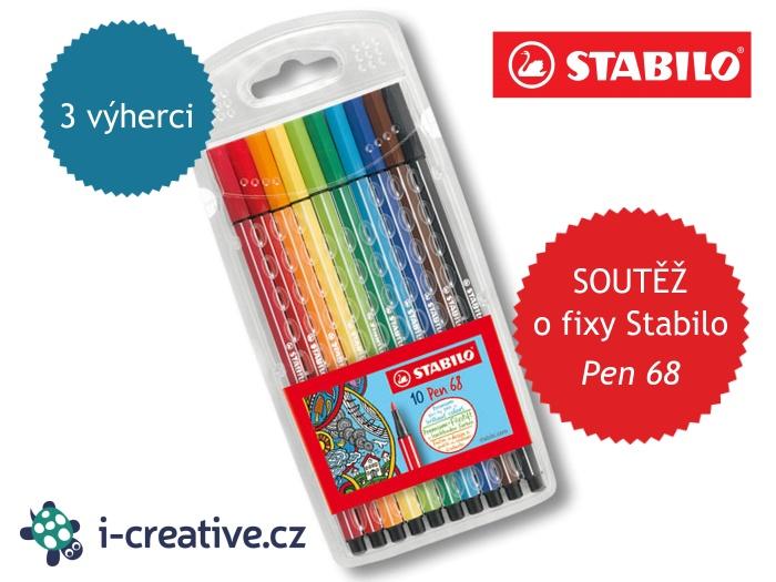 soutěž o fixy Stabilo Pen 68