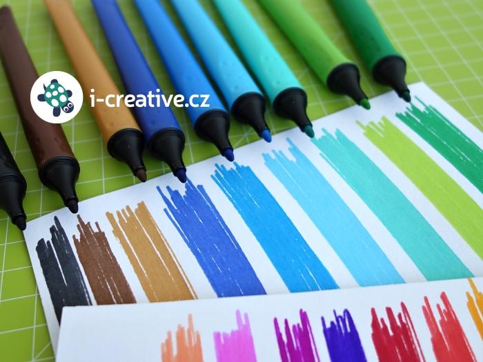 Stabilo Cappi fixy - sytost barev