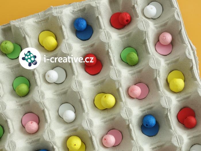 domácí montessori pomůcka - přiřazování barev