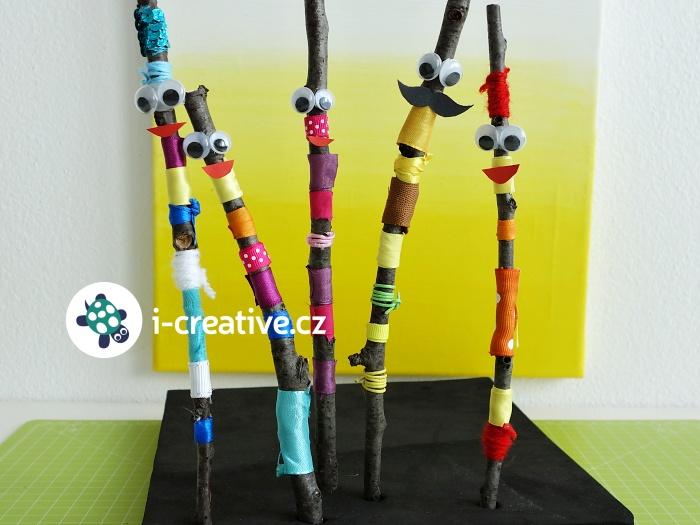 figurky z klacíků