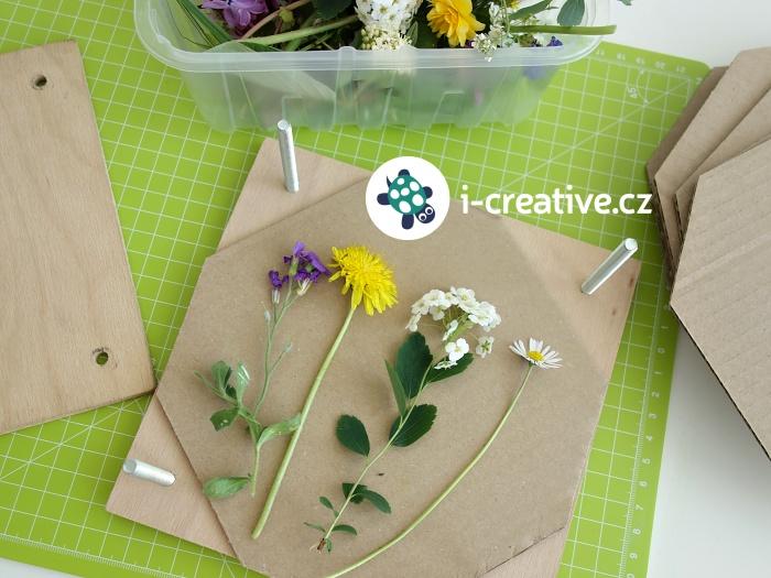 jarní tvoření - lisování květin