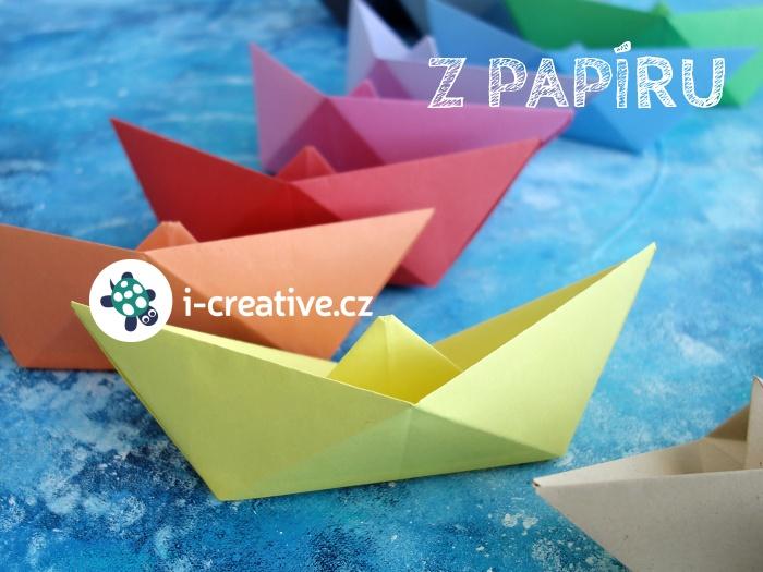 návod jak složit lodičku z papíru