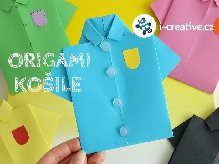 origami košile návod