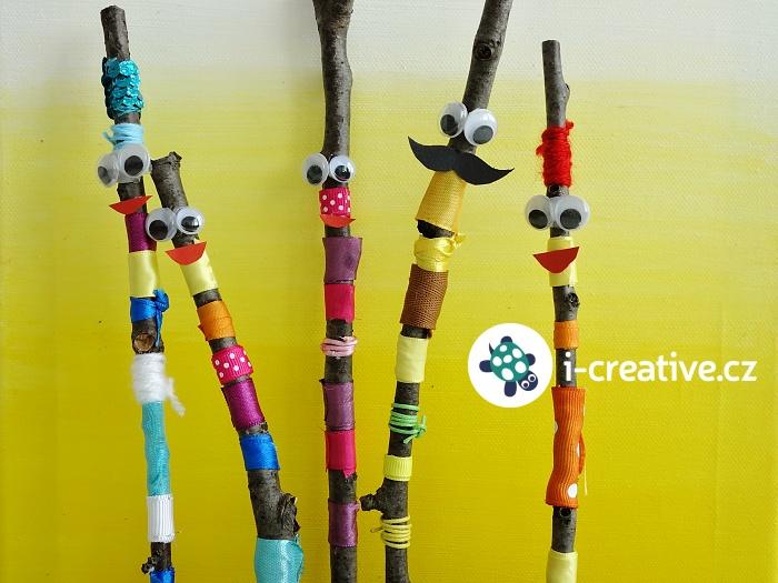 panáčci, tvoření z klacíků