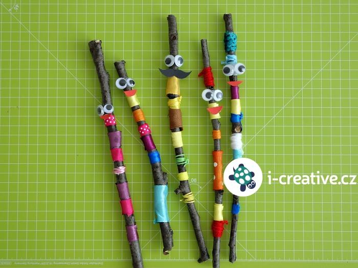 tvoření pro děti z klacíků