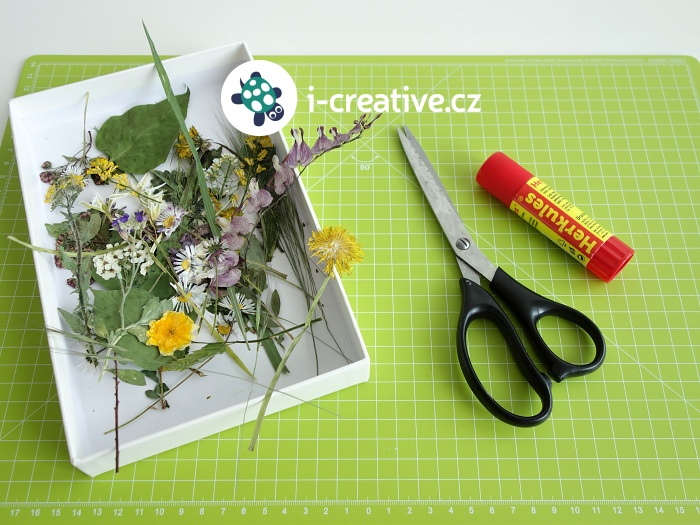 výroba narozeninového přání s vylisovanými květy