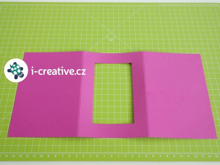 kartička s paspartou na výrobu přání
