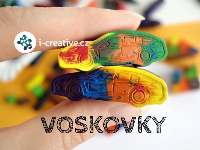 voskovky ve tvaru autíčka