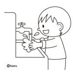 chlapec, mytí rukou v mš