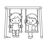 děti na houpačce