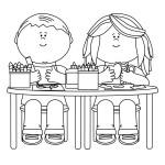 děti tvořící kreslící