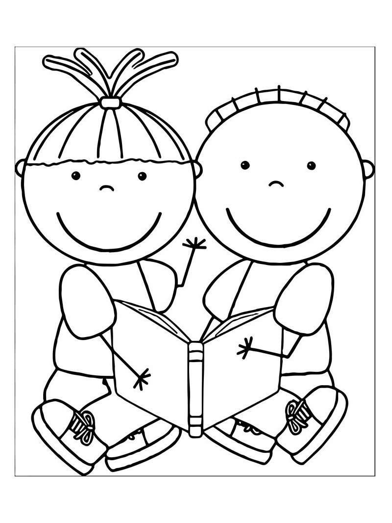 Kids Sharing Clipart Black And White Školka omalov�...