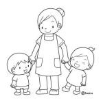 paní učitelka s dětmi