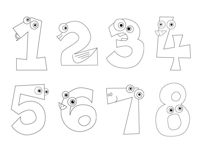 čísla k vytisknutí pro děti